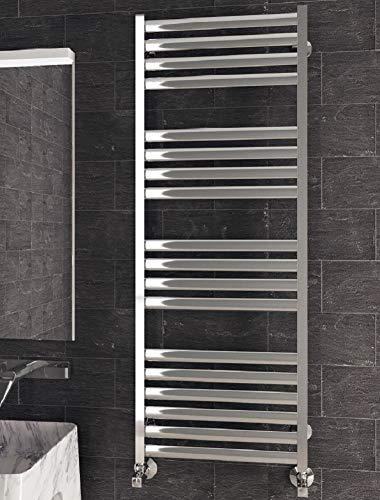 Design Badheizkörper Greta Anzahl Stäbe 14 Stück Edelstahl - 530 x 1046 mm Badwärmer Handtuchheizkörper Heizkörper