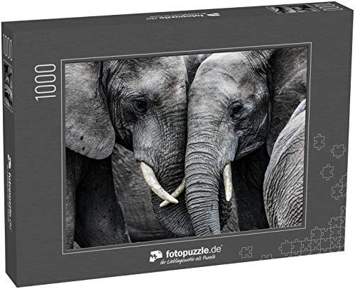 Puzzle 1000 Teile Elefanten - Klassische Puzzle, 1000/200/2000 Teile, in edler Motiv-Schachtel, Fotopuzzle-Kollektion 'Tiere'