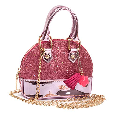"""IMPORTANT NOTE: The pendant on the bag uses different colors, It may be different from the picture, This is a random color, including blue, yellow, pink and so on. MINI SIZE ATTENTION - 6.3""""(L) x 2.7""""(W) x 4.5""""(H). Handle drop 2.36 inches. Cross-body..."""