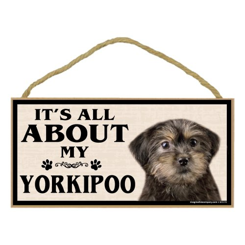 Imagine This Wood Breed Sign, It's All About My Yorkie Poo