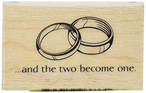 Inkadinkado Wedding Ring Wood Stamp for Wedding Cards, 1.5'' W x 2.8'' L