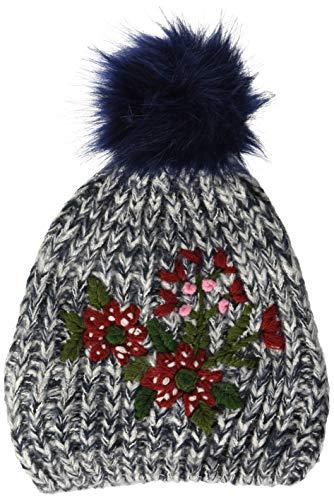 CMP Damen Mütze Strickmütze 5504743, Black/Blue, One Size, 5504743