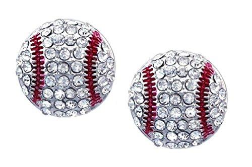 Kenz Laurenz Baseball Earrings Stud Posts