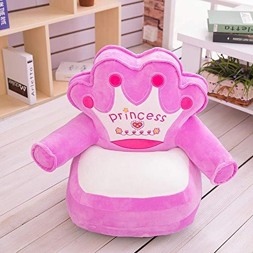 AOARR Bean Bag Nur Bezug (Keine Füllung) Baby Cartoon Crown Sitz Sofa Stuhl Kleinkind Nest Puff Sitz Sitzsack Plüsch Kinder Sitzbezug-1