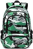 Boys Backpacks for Kids Girls Bookbags Elementary School Bags for Kindergarten Lightweight High Middle School Birthday Gift Presents (Green Camo)