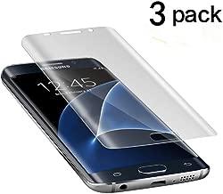 Galaxy S7 Edge Screen Protector [Full 3D Coverage],TANTEK [Anti-Bubble] [HD Ultra Clear] PET Film Curved Edge to Edge Screen Protector for Samsung Galaxy S7 Edge,[3-Pack]