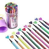 Shulishishop Marker Pennarelli Pennarelli per Tessuti Colore Penne per I Bambini Feltro Punta Penne per I Bambini Colorazione Penne per I Bambini 24pcs