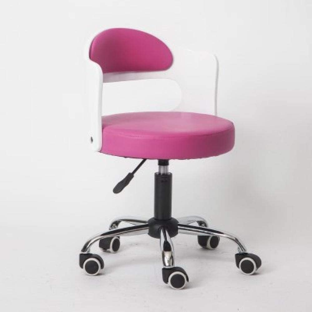 Rugs Tilting Saddle Stool on Sy Wheel,Stool low-pricing Backrest Clearance SALE! Limited time! with Pink