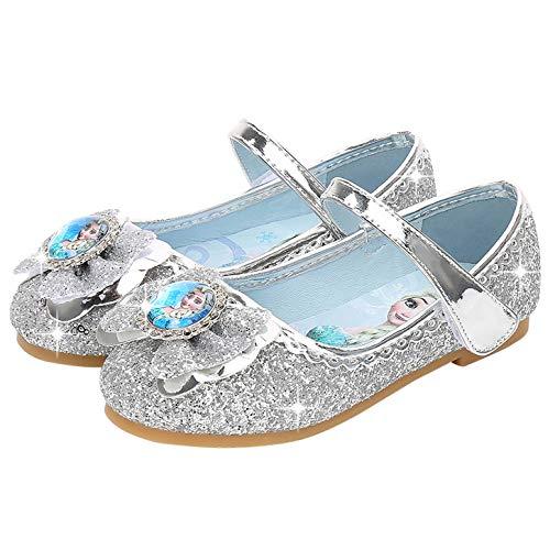 profesional ranking YOSICIL Zapatos de princesa Elsa para niñas Zapatos de disfraz de Elsa Frozen con lentejuelas … elección