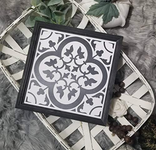 Free Brand Signo de baldosas de cemento, signo de azulejos marroquíes, signo de azulejos de granja, signo inspirado en azulejos, signo de azulejos, decoración de azulejos de pared de granja