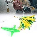 DAUERHAFT Esche da Pesca a traina Crankbait realizzate con Materiali di buona qualità con Piuma, per la Pesca in Mare(Green)
