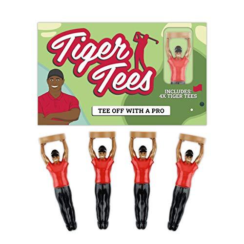 Unbekannt Gift Republic Tiger Golftees, Unisex, 4er-Pack, Mehrfarbig, Einheitsgröße