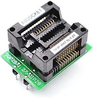 ALLSOCKET SOP20-7.5-1.27 SOP20パッケージ SOIC20 SO20 SOP20 to DIP20 プログラミングアダプターテスト、デバッグ、検証、プログラミングソケット1.27mm ピッチ7.5mm 幅(300ミル)...