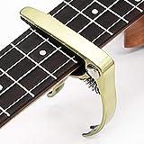 Guitarra clásica capo acústica aleación de zinc para guitarra eléctrica ukelele pick pack pick set-Golden