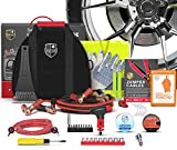2-in-1 Emergency Roadside Car Assistance with Premium First Aid Kit (348-Piece): Jumper Cables (12-Foot), Automotive Safety Tools for Vehicle