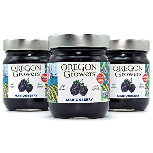 Oregon Growers, Marionberry, Non-GMO, Natural Fruit Spread, 12 Ounce (Pack of 3)