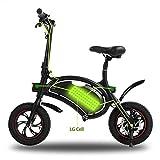 Folding Electric Bicycle APP Speed Setting 350W Powerful Motor Waterproof Ebike with 12 Mile Range (Black-4.4AH)
