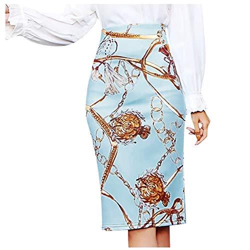 Minifalda para mujer, para tiempo libre, elástica, cintura alta, para mujer, moda para mujer, falda media larga, falda estampada, falda corta corta