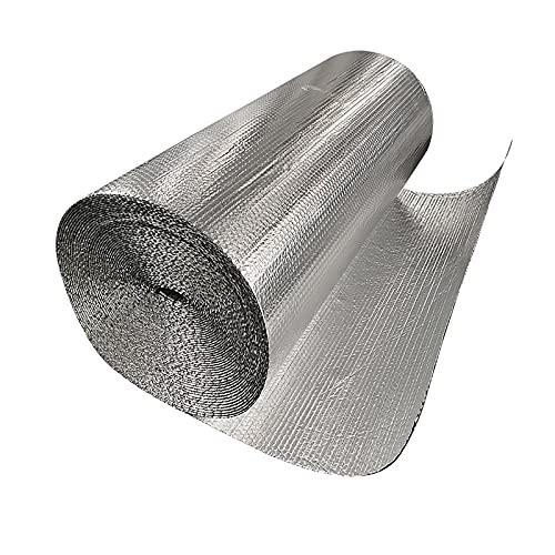Multifunzionale E Facile da Usare Lamina Termoriflettente Termoriflettente Termosifone Rivestimento Isolante di Energia Domestico Garage Capannone  Isolamento(Size:1x15m 3.2x49.2ft)
