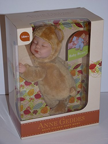 Anne Geddes Light Brown Baby Bear / Muneca de Oso Bebe Marron