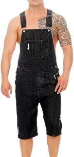 HaiDean Men's Denim Pants Men Casual Retro Overalls Overalls Modern Casual Cargo Dungarees Jeans Shorts Denim Stonewashed ...