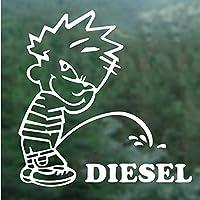 車のステッカー面白いプラスディーゼルビニールのステッカー車のバンパーボディリアウィラ燃料タンクキャップ装飾的なデコール防水、15センチ (Color Name : White, Size : 20X20cm)