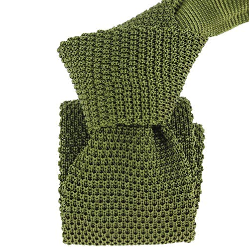 Tony & Paul - Cravate Tricot Vert Foglia, Soie