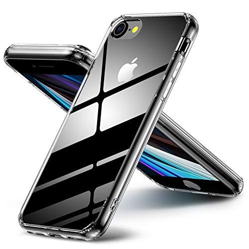 iPhone SE2 ケース iPhone8 ケース iPhone7ケース クリア Aunote スマホケース iphone8 背面透明 TPUバンパー 薄型 軽量 耐衝撃 レンズ保護 四隅滑り止め ストラップホール付き ワイヤレス充電対応