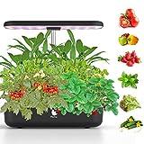 Wattne Hydroponisches Anzuchtsystem, Smart Garden mit 12 Kapseln, LED Indoor-Gartenset für Pflanzenwachstum, höhenverstellbar, automatischer Timer