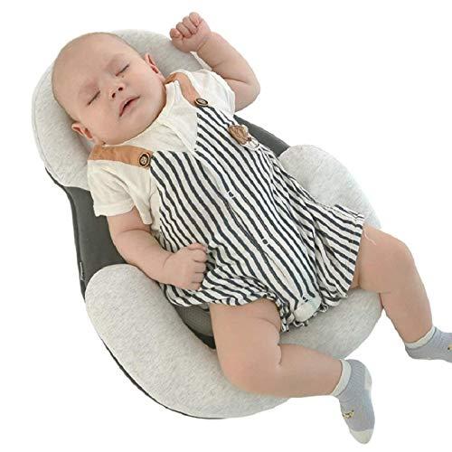 almohada de colchón antivuelco para recién nacidos, para 0-12 meses, almohadilla de posicionamiento para dormir para bebés, almohada de algodón