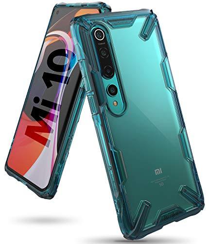 Ringke Fusion-X Diseñado para Funda Xiaomi Mi 10 (2020), Carcasa Mi 10 Pro, Parachoque Resistente Impactos Funda Mi 10 / Mi 10 Pro (6.67 Pulgadas) - Turquoise Green