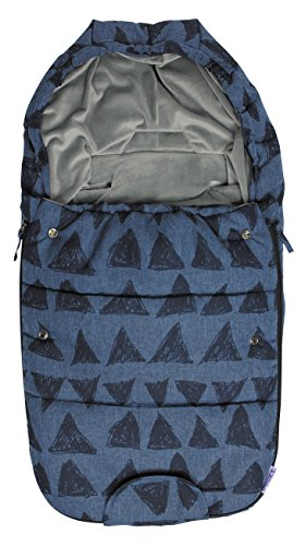 The Original Dooky 126937 Dooky 126937 Sac Poussette Small Blue Tribal, bleu avec triangles, Small