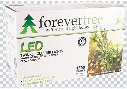 Overstock Forever Tree 1560 LED Twinkle White Warm Spring new work Cluster Light Manufacturer OFFicial shop