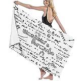 NANITHG Handtücher,Geek Nerd Kultur Handschrift Stil Physik Mathematik Formel Pädagogisch,weich sehr saugfähig Badetuch Mehrzweck-Badetuch für Hand Gesicht Fitnessstudio Spa
