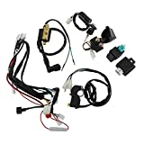 AuInLand Electric Start Engine Wiring Harness, CDI Ignition Coil Wiring Harness Kit, CDI Wire Assembly fit for 4 Stroke ATV KLX 50cc 110cc 125cc Quad Bike Buggy Go Kart