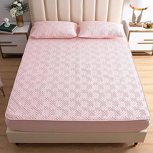 IKITOBI Sábana bajera ajustable para cama doble, suave, cómoda, lavable a máquina, transpirable, 120 x 200 cm