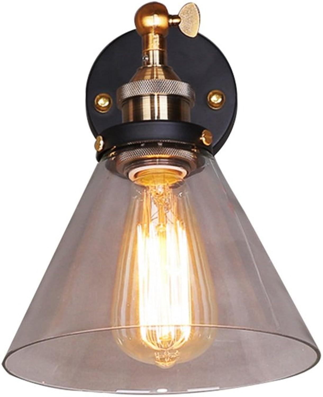 Add Amerikanische Wandleuchte LED bar Wohnzimmer korridor E27  1 Durchmesser 227 × hhe 300mm schwarz