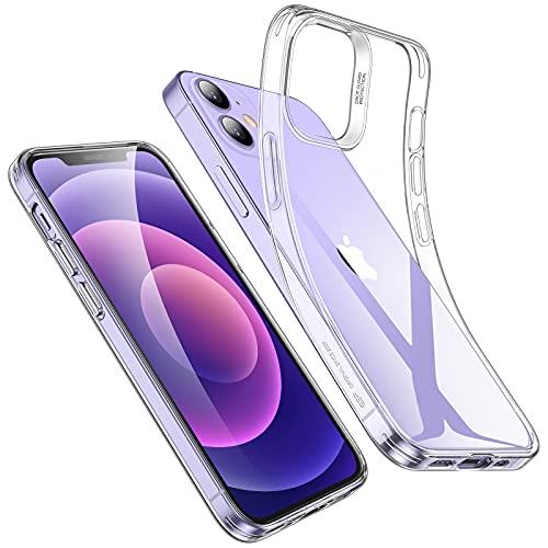 ESR Funda TPU Compatible con iPhone 12/12 Pro 6.1' 2020, Carcasa Anti-Choques y Anti-Arañazos, Funda Silicona Compatible con Carga Inalambrica, Transparente