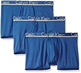 Calvin Klein Men's Comfort Micro Multipack Trunks, Airforce/Airforce/Airforce, Large