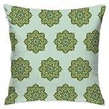 Helen vi Coussins décoratifs 45x45 Soul Love Mandalas Green Large_215 100% Coton,...