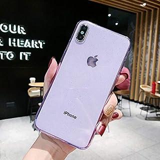 جرابات CRISTY - جراب شفاف لامع لهاتف iPhone 11 Pro Max X XS XR 8 Plus 7 6 6S SE 2 2020 SE2 ملحقات الهاتف الفاخرة باللون ال...