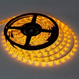 XINKAITE Waterproof Led Strip Lights SMD 3528 16.4 Ft (5M) 300leds 60leds/m White Flexible Tape Lighting Tape Lights for Boats, Bathroom,Mirror,Ceiling and Outdoor, Power Supply not Included (Orange)
