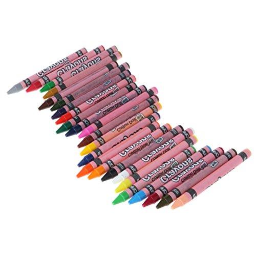 GROOMY Bolígrafo de Pintura, 1 Juego de Cera crayón Palo Chico Pintura Dibujo Dibujo Herramienta de Arte 8/12/24 Colores-veinticuatro