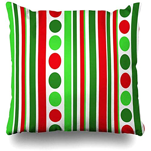 July Red Lime kerstvakantie groene clip celebration bal viering u circle dot design streep kussensloop