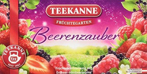 Teekanne Früchtegarten Beerenzauber Tee 20 Beutel, 6er Pack (6 x 60 g)