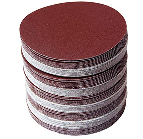 30PCS 5 Pulgadas de 125 mm de Disco de Papel de Lija Disco de Arena de Grano 320/400/600/800/1000/1500 Hook & Loop Disco de Lijado Para Sander Grits