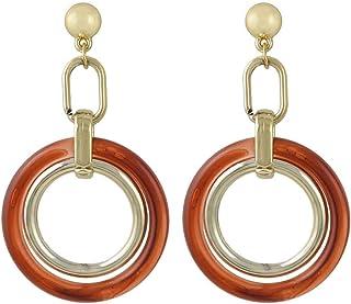 Women Acrylic Big Circle Long Drop Dangle Earrings Jewelry 4461RE