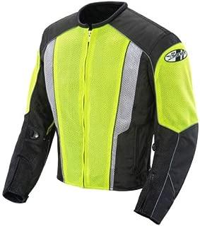 Joe Rocket Phoenix 5.0 Mens Hi-Viz Yellow/Black Mesh Motorcycle Jacket - 2X-Large