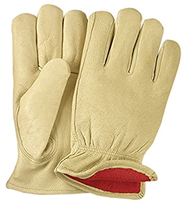 Illinois Glove Company, Grain Pigskin Fleece Lined Glove, Palomino