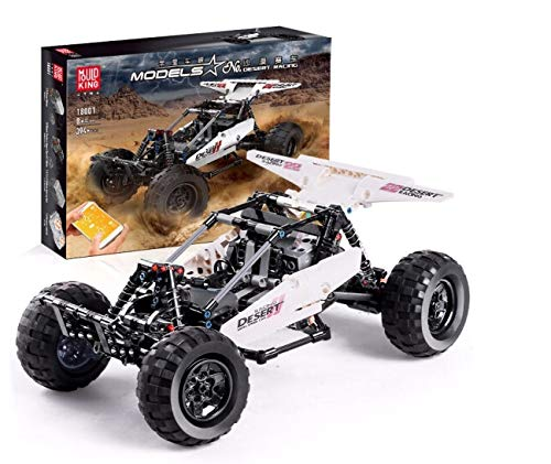 SERBVN Technik Geländewagen Off-Road Buggy, Fernbedienung + App-gesteuertes, Mould King 18001 Kompatibel mit Lego Technic 42124-394 Teile